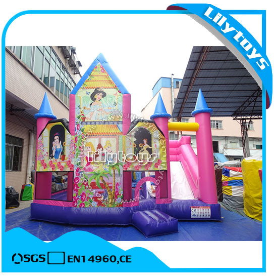 Pink Inflatable Jumping Combo with Slide pictures & photos