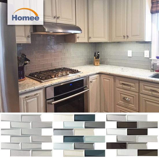 China Outside Balcony Wall Tiles Designs Kitchen Tiles White Glass Subway Tile China Building Material Decoration Material