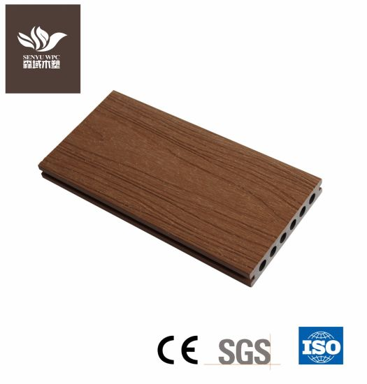 Co-Extrusion Outdoor WPC Plastic Wood Composite Decking Board