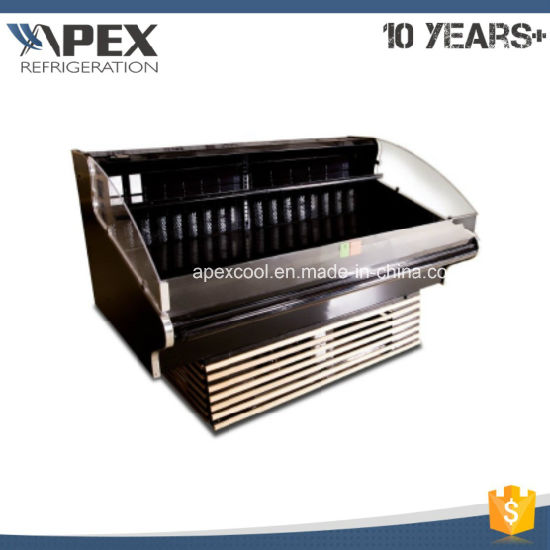 China Open Fresh Meat Chiller Self Serve Display Counter