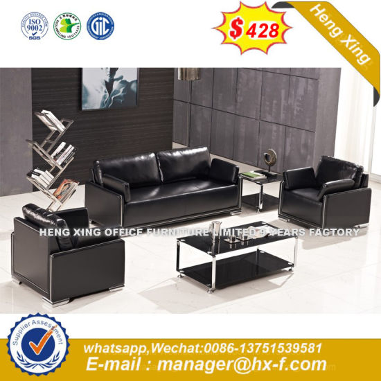 Modern Office Furniture Wooden Frame Leather Sofa (HX-S313) pictures & photos