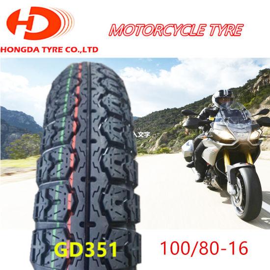 Llanta De Motocicleta Motorcycle Parts Chinese Cheap Tubeless Motorcycle  Tire/Tyre 100/80 16
