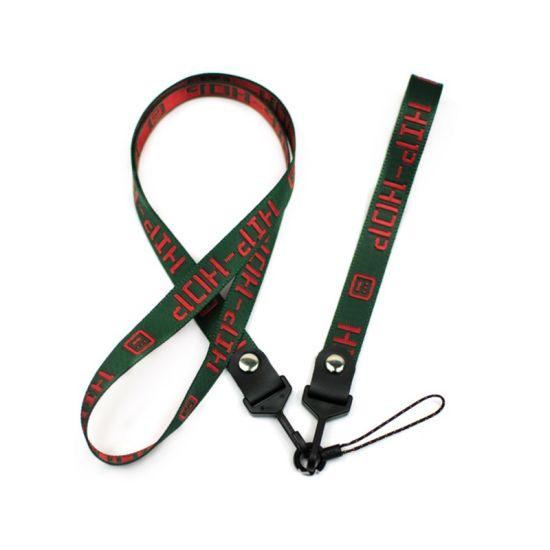 Custom Printing Logo Polyester Plastic Clip Mobile Cord Lanyard Sport Medal Badge Different Color Lanyard Neck Lanyards