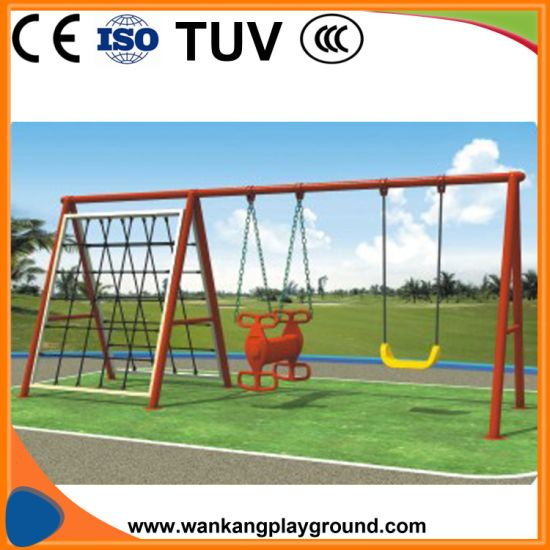 Children Outdoor Park Toddle Patio Swing Sets with Climbing Shelf (WK-XX1103b) pictures & photos