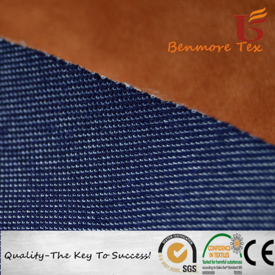 Cotton Elastic Denim Bonded with TPU Bonded with Knitted Fabric for Garment pictures & photos