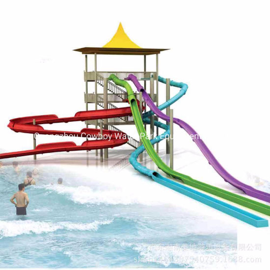 China Cowboy Water Play Equipment Spiral Slide Fiberglass Swimming Pool Slide China Fiberglass Water Slides Prices And Water Park Equipment For Sale Price