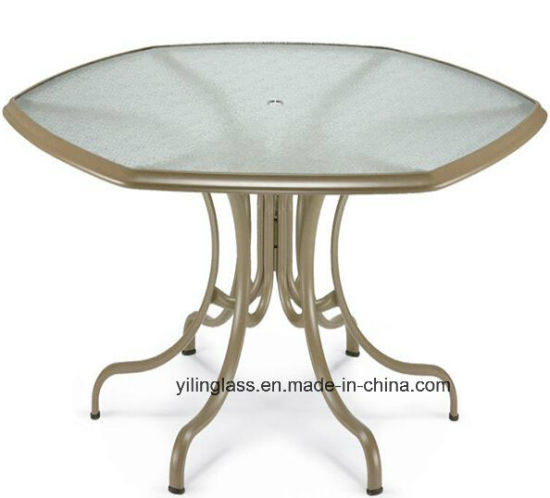 Round Patterned Tempered Table Top Glass pictures & photos