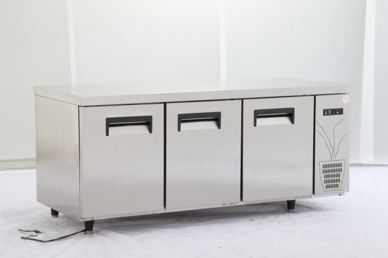 3-Door Stainless Steel Undercounter Refrigerator for Restaurant pictures & photos