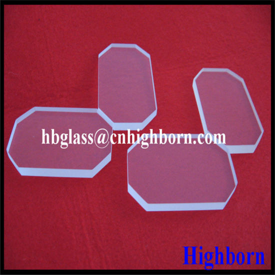Fire Polish Coner Cut Square Fused Quartz Glass Discs pictures & photos