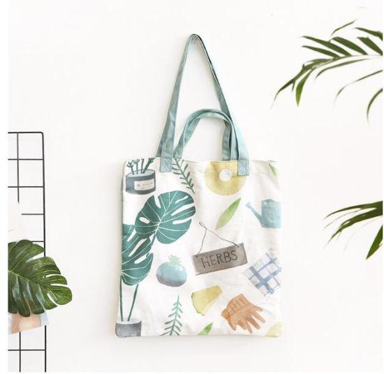 Custom Logo Printed 100% Natural Cotton Tote Bag, Promotion Organic Canvas Shopping Bag