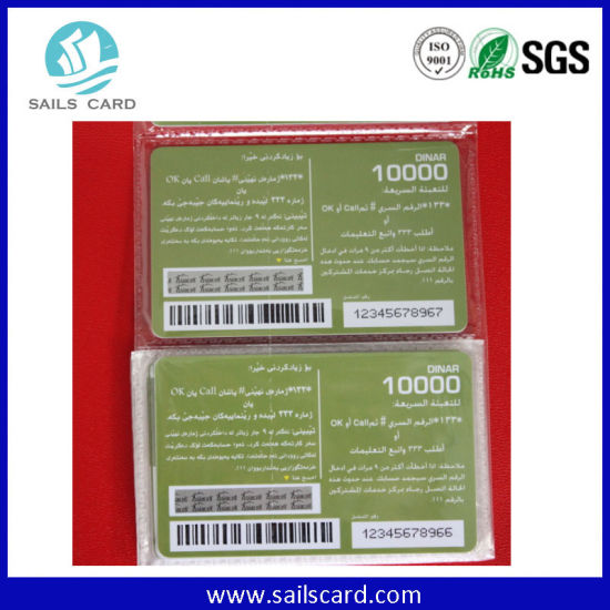 300g Paper Scratch Code Recharge Card with Pin Code