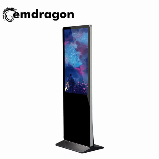 43 Inch LCD Digital Signage Vertical Android Windows Capacitive Kiosk Floor Stand