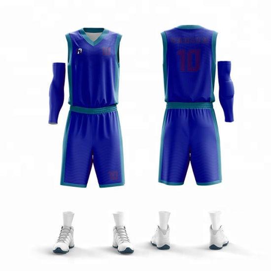24e11e24122 2019 Latest Clothing Sublimation Printing Custom Men′ S Basketball Uniform