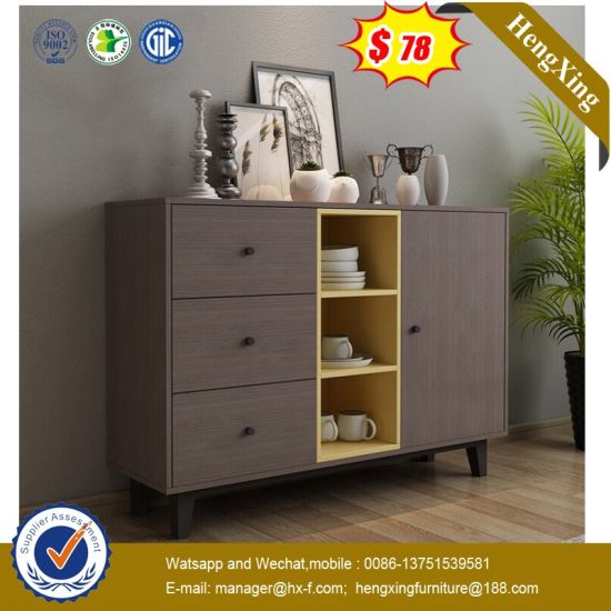 China Distressed Wood Metal Storage Living Room Cabinets Hx 8nd9389