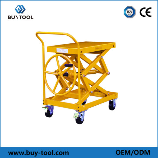 Manual Lift Table Truck Without Hydraulic Pump