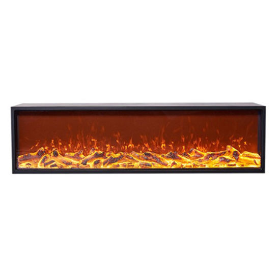 China 2 Sided Electric Fireplace 3d Decor Flame Led Fireplace