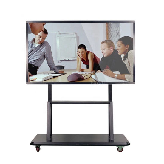 """wall-mounted 75"""" educational smart whiteboard with marker"""