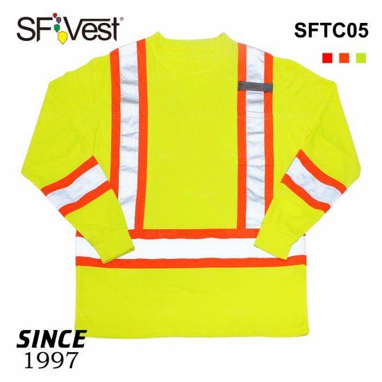 Hi Viz Reflective Safety T Shirts Warning Work Wear Uniform
