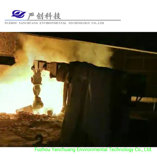Cylinder Robot Arm 20t Induction Furnace Steelmaking