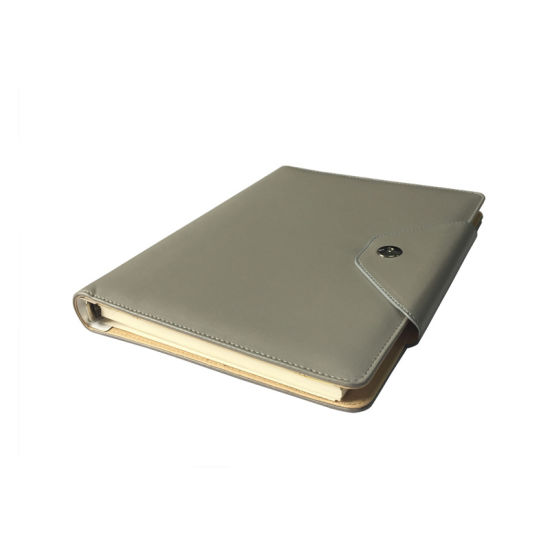 A5 Grey Color PU Hardcover Notebook