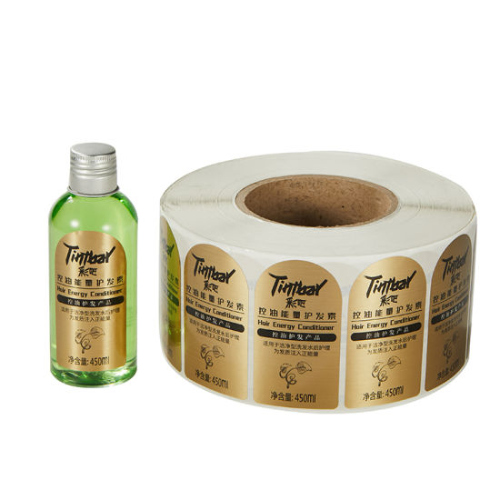 Waterproof Beauty Care Products Bottle Label, Roll Customized Bath and Body Label Printing