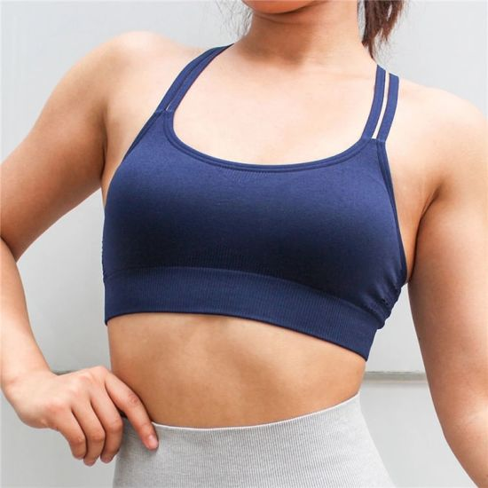 Women Sports Underwear Custom Wholesale Elastic Breathable Yoga Bra