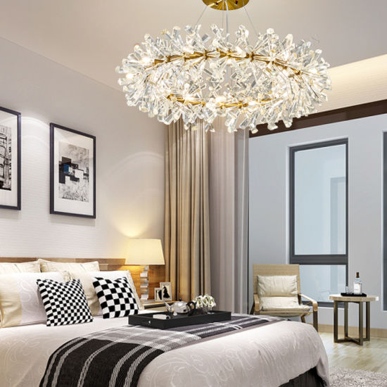 Post Modern Ice Chandelier with Crystal Shape, Fit for Bar, Restaurant, Living Room, Hotel