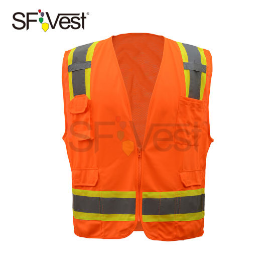 Class 2 Safety Reflective Mesh Vest with Hot Sell in Amercian Market
