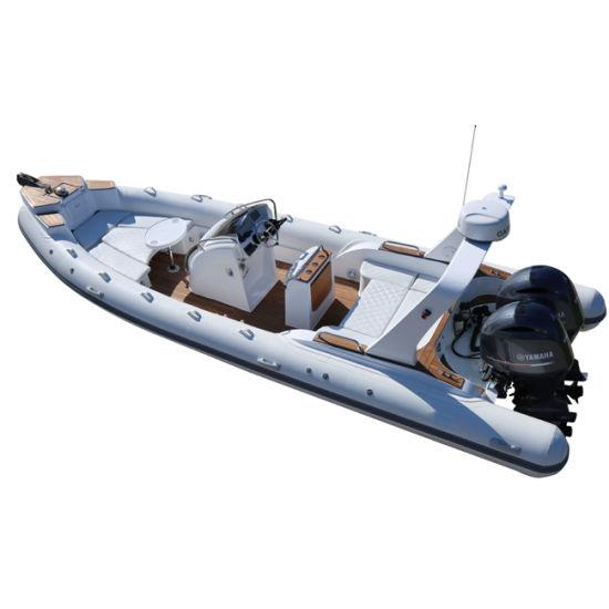 CE 25FT 7.6m Inflatable Fiberglass Boat Luxury Boat Speed Sport Rigid Boat Fishing Boat Hypalon Boat Orca Boat Military Boat (RIB760)