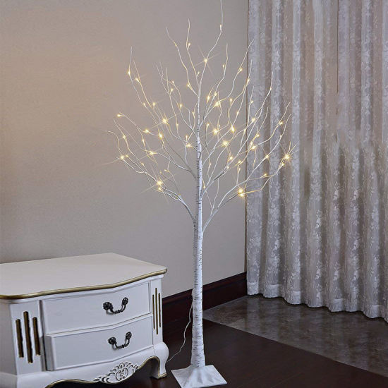 Indoor Outdoor Living Room Decorative Artificial LED Christmas for Wedding Birch Trees Light