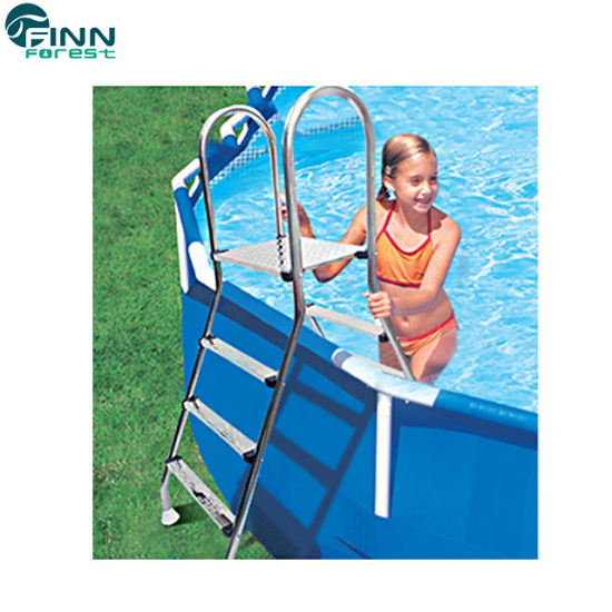 Factory Price Above Ground Swimming Pool Equipment Double Side Ladder