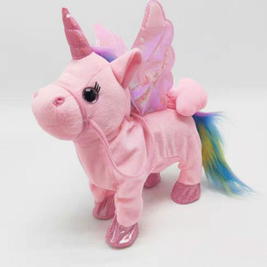 Hot Sale Plush Toy Sing and Walking Unicorn Custom electronic Stuffed Toy