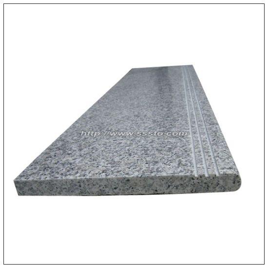 Natural Stone G603 Light Gray Granite Steps, Granite Stairs