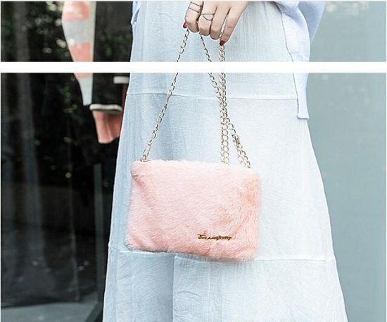 in Stock Wholesale Ladies Winter Bag, Wholesale Fashion Fur Handbag, Designer Hand Bag