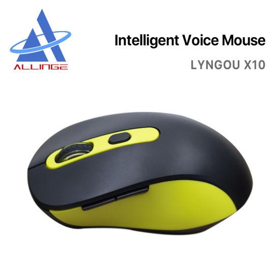 Lyngou LG061 X10 Smart Wireless Ai Voice Mouse with Multi Languages Voice Typing Computer Desktop Laptop