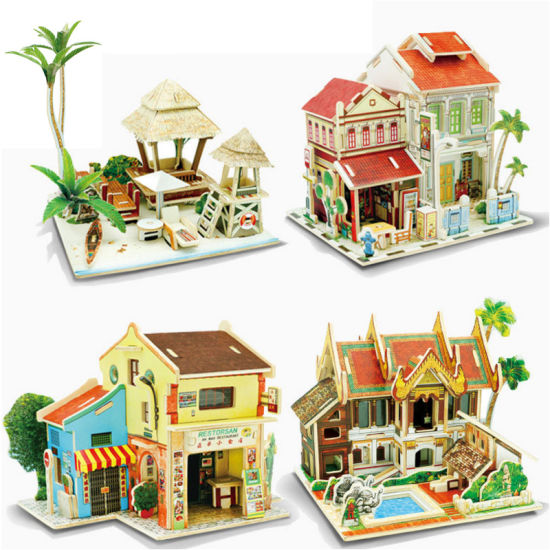 China Children Early Learning Educational Wooden 3D Puzzle