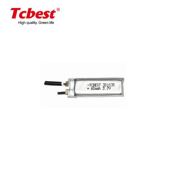 Rechargeable 3.7V Li-Po Battery 60mAh Polymer Lithium Battery 301030 Lithium Polymer Batteries