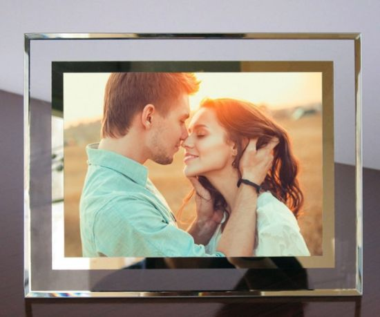Wholesale Home Decoration Album Personalized Gift Craft Advertising Display Mirror Plaque Wedding Crystal Glass MDF Wood Collage Flower Picture Photo Frame