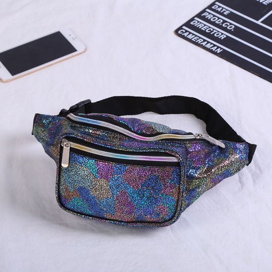 Women Reversible Mermaid Sequins Glitter Waist Bag Fanny Pack Pouch Hip  Purse Satchel Laser Bag Waist Packs 29faf4e147b7