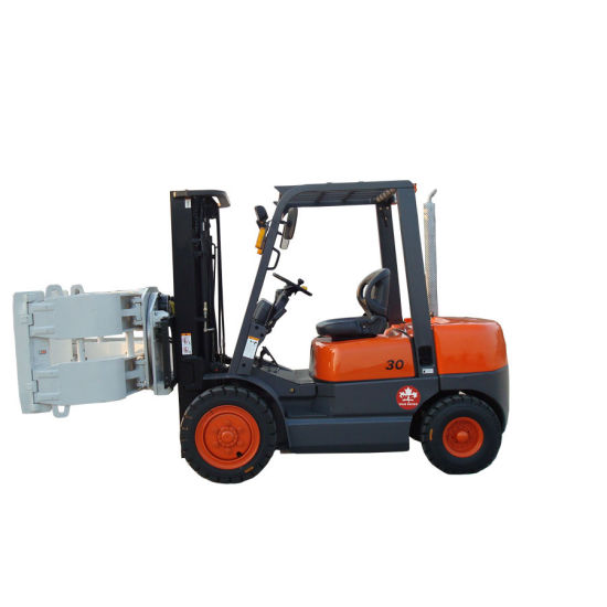 3ton Paper Roller Clamp Forklift with C240 Engine/3000kg Diesel Forklift pictures & photos