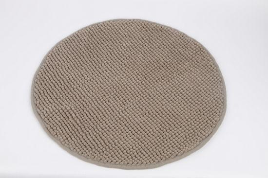 Round Bath Mat Non-Slip Chenille Bathroom Rugs