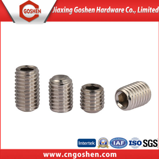DIN 913 Hexagon Socket Set Screws with Flat Point pictures & photos