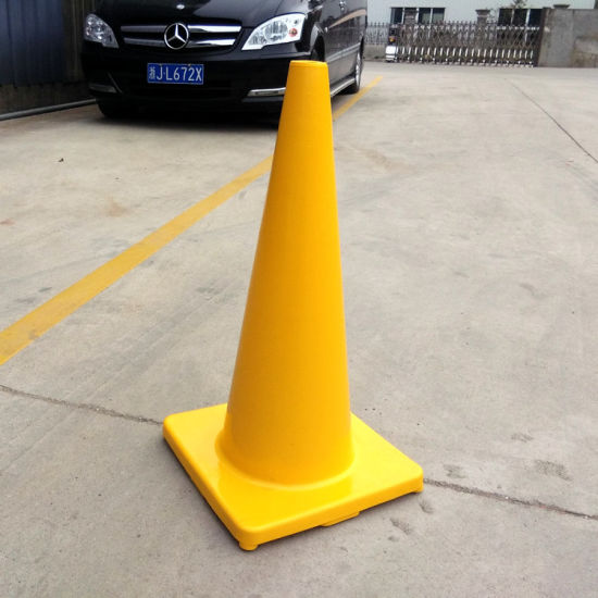 "30"" High 5.3 LB Orange PVC Traffic Cone with Two 4"" Reflective Collars pictures & photos"