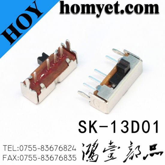 Right Angle Mini Switch Through Hole Type Spdt Slide Switches (SK-12F14) pictures & photos