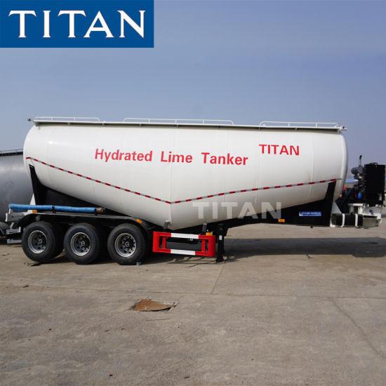 Titan Dry Bulk Cement Bulkers Pakistan / Bulk Silo Semi Trailers 48 M3 39  Cbm Bulk Cement Tankers Trucks for Sale