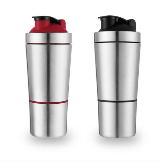 304 Stainless Steel Protein Shaker Bottle Whey Protein Powder Gym Shake Kettle Milkshake Mixer Sports Water Bottle Single Layer
