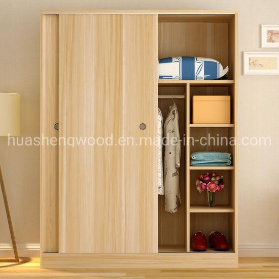 Simple Modern MFC Wooden White Bedroom Wardrobe Design ...