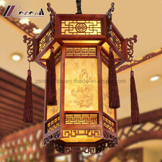 Chinese Style Retro Lantern Shape Pendant Lamp for Aisle pictures & photos