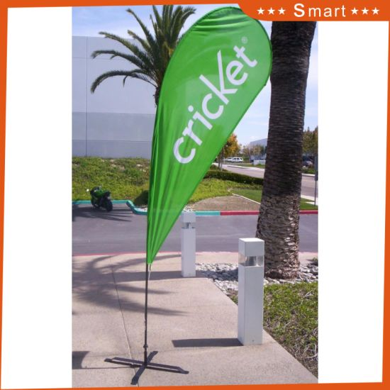 Custom Portable Double Advertising Beach Flag pictures & photos