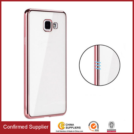 Transparent Electroplating Durable TPU Cell Phone Case for Samsung